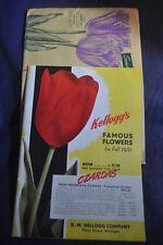 1951 Kelloggs Famous Flowers Catalog. Three Rivers Michigan