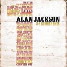 ALAN JACKSON 34 NUMBER ONES 2 CD NEW