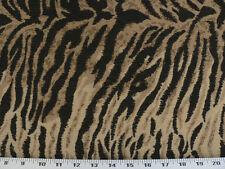 Drapery Upholstery Fabric Serengeti Tiger Animal Print Chenille -Tan/Beige/Black