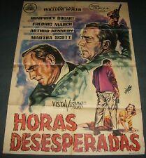 1955 The Desperate Hours ORIGINAL SPAIN POSTER Humphrey Bogart Film Noir