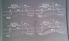 Sopracciglia Eye Brow Shaping Stencil 4 Pack riutilizzabili. stile C1-C5 UK Venditore