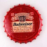 Budweiser Beer Decorative Bottle Cap Bar Pub Retro Man Cave Metal Tin Sign 13.8""