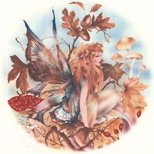 """Fall Forest Fairy 1 pc 7-1/4"""" Waterslide Ceramic Decal Xx"""