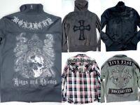 Monarchy Jacket & Shirt Lot Mens Small & Medium Zip Up Hoodie Track Los Angeles