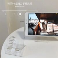 Minimalist English Letters Transparent Acrylic Mobile Phone Holder Stand Desk