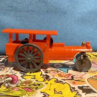 Tri-Ang  Triang Minic Clockwork steam roller Rare red plastic Non Working, VGC
