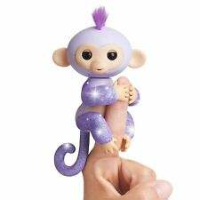 Fingerlings Kiki Glitter Monkey Purple Glitter - Interactive Baby Pet WowWee