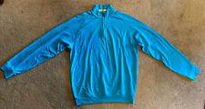 Fairway and Greene Golf mens M LuxInterlock Tropical Blue Activewear Pullover