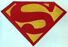 """7.5"""" x 11.2"""" Embroidered Dean Cain style Superman Red & Yellow Chest Logo Patch"""
