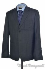 STEVEN ALAN Classic Gray Striped 100% Wool Jacket Pants SUIT Mens - 40 R