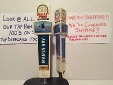 Ballast Point Manta Ray & Calm Before The Storm Beer Tap Handle Lot Of 2 Handles