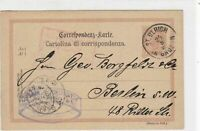 austria 1899 stamps card ref 20904