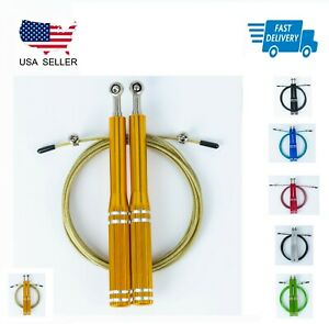 Jump Rope Crossfit Boxing Weighted Adult Ball Bearing Beaded Gym Speed Fitness M