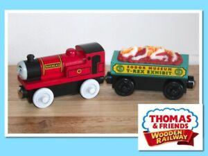 Thomas The Tank Engine Wooden Railway Train RHENEAS AND FOSSIL CAR
