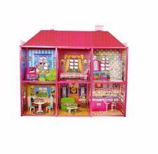 XL Großes Puppenhaus 128tlg Landhaus Dollhouse barbie 105x94x36 cm NEU Förderung