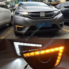 LED Daytime Running Light DRL Turn Signal Fog Lamp For Honda FIT JAZZ 2014-2017