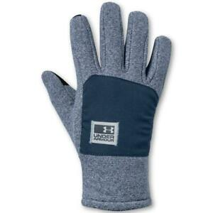Under Armour Mens Coldgear Infrared Blue Comfy Cozy Winter Gloves S BHFO 4395