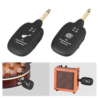 Guitar UHF Wireless System Transmitter Receiver Built-in Rechargeable wireless