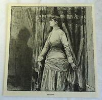 1885 magazine engraving ~ Henriette