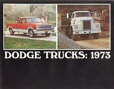 1973 Dodge FL Truck Brochure Pickup/MediumDuty/Heavy Duty/Tilt Cab/Tandem Diesel