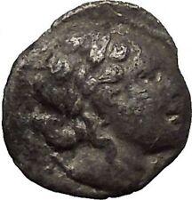 LYCIAN LEAGUE Masikytes Lycia 48BC Apollo Lyre Ancient Silver Greek Coin i53661