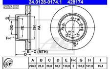 ATE Juego de 2 discos freno 298mm ventilado Para PORSCHE 24.0128-0174.1