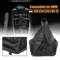 Black Car Gear Shifter Shift Knob Gaiter Boot Cover Fit to E46 E36 E34 E30 Z3