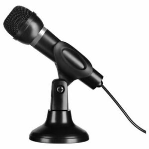 Speedlink Tischmikrofon Hand PC Mikrofon Stativ 3,5mm Karaoke KTV Microfon DE