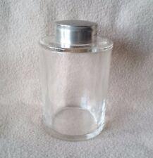 Antico periodo Art Deco Inglese In Vetro Profumo Bottiglia SALI DA BAGNO & a Vite in alto di metallo