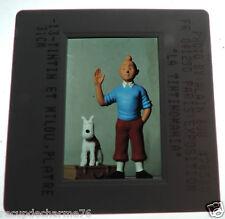 Tintin et milou platre 31 cm diapositive paris exposition 04121990 tintinmania