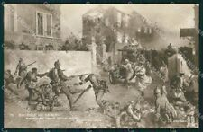 Propaganda WWI France Bataille de Senlis Anti German Turcos cartolina XF8339