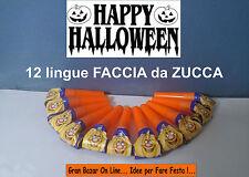 HALLOWEEN 12 LINGUE FACCIA DA ZUCCA GADGETS FESTA PARTY HORROR DJ