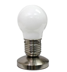 "All The Rages - 9.45"" White Edison Style Bulb Mini Touch Desk Lamp (NL2006-WHT)"