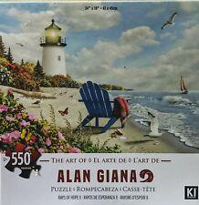 Alan Giana Ray's of Hope II 550 PCS Jigsaw Puzzle Beach Lighthouse Adirondack