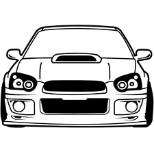 "****6"" 04-05 SUBARU WRX STI STICKER DIE CUT BLOB EYE JDM DRIFT IMPREZA****"