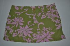 ROXY SURFING GREEN PINK FLORAL SURF SKIRT WOMENS SIZE SMALL S