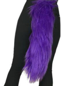 Handmade Faux Fur Tail Fursuit Fursona Costume Cosplay Accessory Several Colors