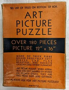 1930'S  TUCO  ART  PICTURE  PUZZLE-THE  LITTLE NURSE- 204 Pieces