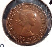 CIRCULATED, XF IN GRADE, 1965 1/2 PENNY UK COIN (22615)