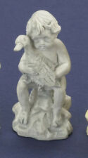 Ornamental Garden Statue of Boy with Duck, Dolls House Miniature