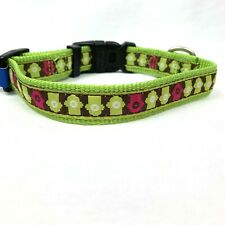Top Paw Lime Green Fire Hydrant Adjustable Quick Release Dog Collar Sz Small