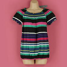 Cotton Stretch Singlepack Striped Tops & Shirts for Women