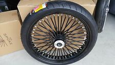 21 X 3.5 FAT SPOKE single DISC  BLK, BLK W WW TIRE  4 HARLEY FLH 00-07, or FLST