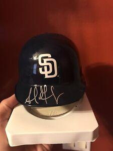 Adrian Gonzalez San Diego Padres Signed Riddell Mini Helmet COA Red Sox Dodgers