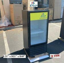 New Glass Door Refrigerator Cooler Beverage Merchandiser Nsf 21 X 21 X 45