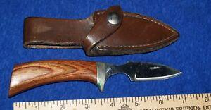 Vintage Track Knives By Ithaca gun Hunting Skinning Knife - Paw -Original Sheath