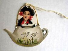 Vintage Bridge Tally Asian Woman w/ Teapot