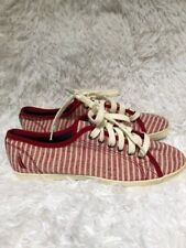 Brand New! Red & White Stripped Sporty Women's Casual Nautica Boat Sneakers Size