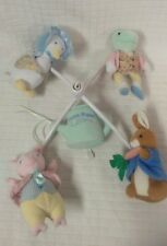 Luv n Care Tale of PETER RABBIT Musical Mobile Puddle Duck Pig Frog POTTER Bunny