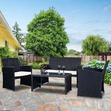 7 Pcs Patio Garden Wicker Rattan Cushioned Sofa Set w/Coffee Table